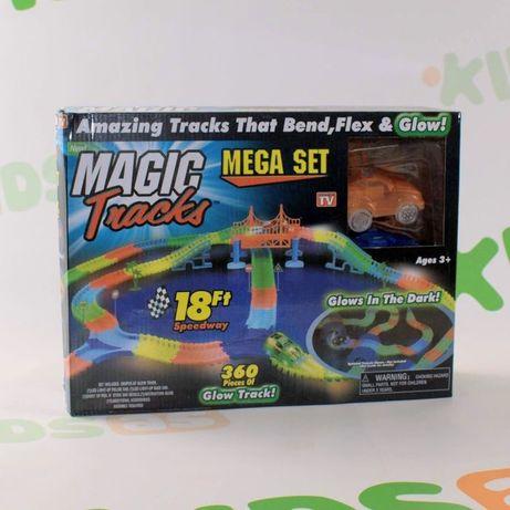 Magic Tracks 360 деталей на 3 батарейки Гоночный трек 2 машинки меджик