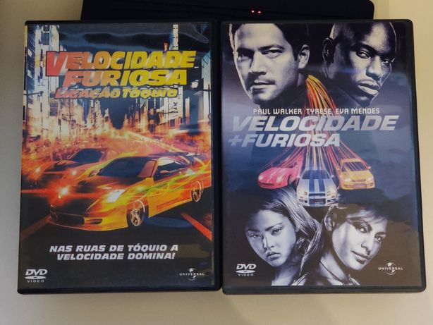 Dvd Fast and Furious, Tokyo drift + 2 fast 2 furious