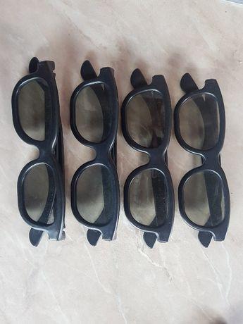 okulary 3d zestaw 4szt.