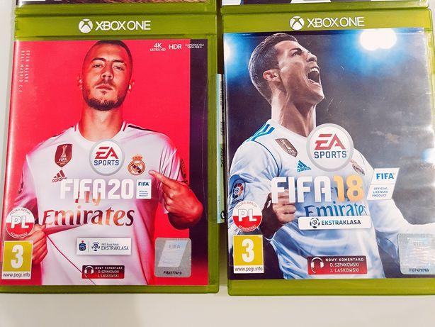 Xbox one gry FIFA18, FIFA20, FORZA HORIZON 2, NHL18