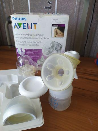 Ручной молокоотсос Avent+ пакеты для молока+новая соска