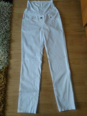 Spodnie ciążowe białe happy mum 36