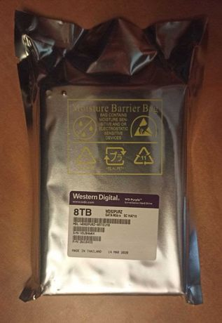 НОВЫЙ запечатанный HDD WD WD82PURZ 8TB 7200rpm 256MB 3.5 SATA III