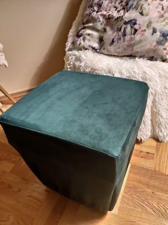 Pokrowiec na puf , butelkowa zieleń 40x40