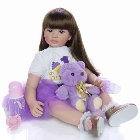 Кукла Keiumi Реборн девочка 60 см с аксессуарами