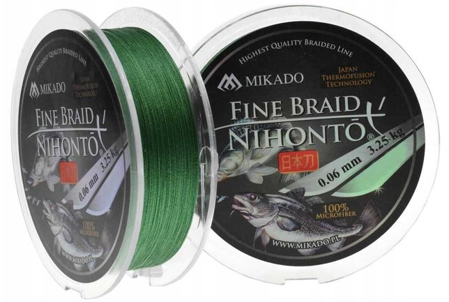 Plecionka wędkarska Mikado Nihonto Fine Braid 0,16mm 150m 12,50kg