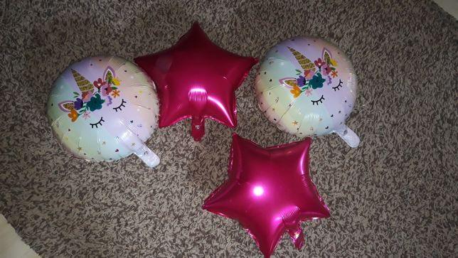 Фольгированные шары Единорог день рождения девочки