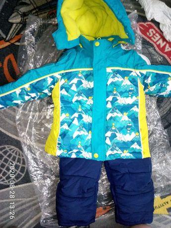 Комплект зима куртка и комбинезон, Chicco, чикко 80 см