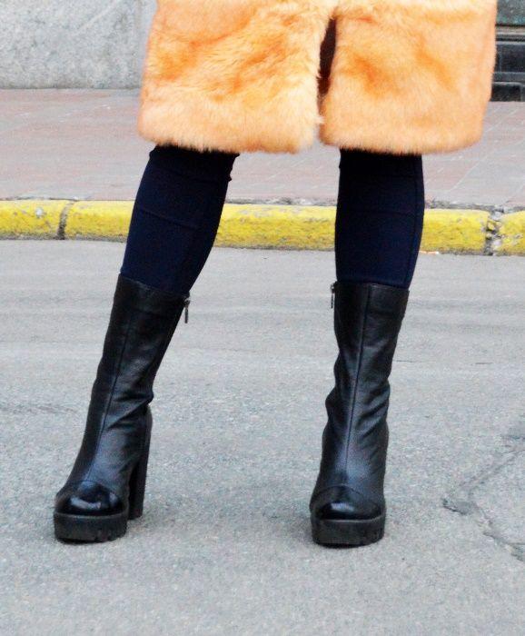 Женские сапожки New trend Italy design натур кожа 40р Киев - изображение 1