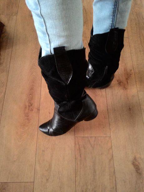 Сапоги ботинки кожаные деми 36р.