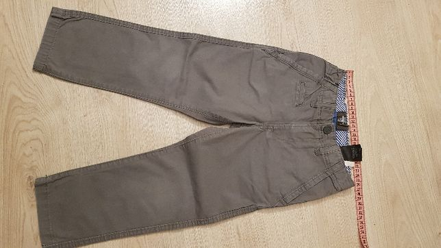 szare spodnie H&M roz. 110