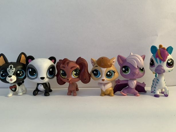 LPS Littlest Pet Shop - sześć różnych figurek do skanowania