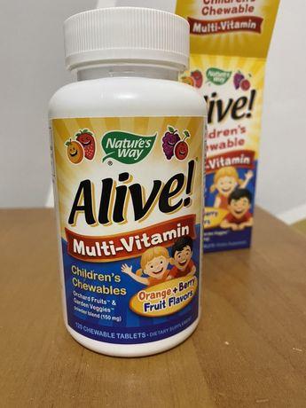 Alive! Multi-Vitamin, Nature's Way Мультивитамины для детей, вишня, ви