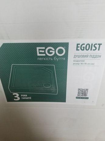 Душевой поддон Ego 90×90см новый