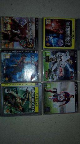 PS3 80gb + 2 comandos + 8 jogos