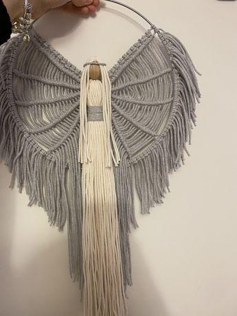 Anioł z makramy , rękodzieło