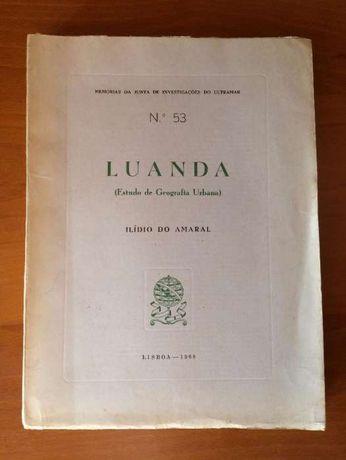 LUANDA - Estudo geografia urbana - Ilídio do Amaral 1968