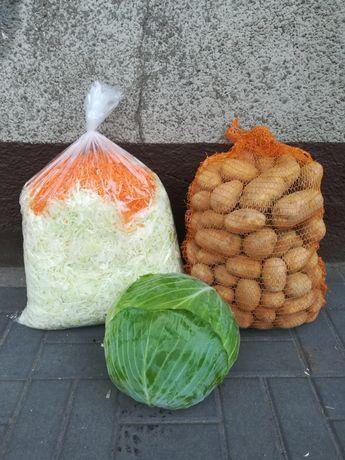 Kapusta szatkowana, ziemniaki