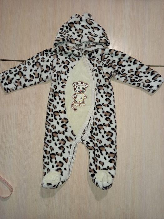 Детский тёплый  махровый человечек комбинезон для новорожденных Первомайск - изображение 1