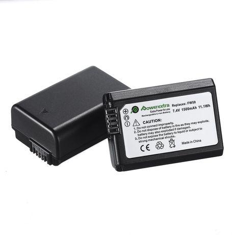 Bateria carregador Sony np-fw50 NP-FW50 npfw50 A7 A7R A7S A6400 A6300