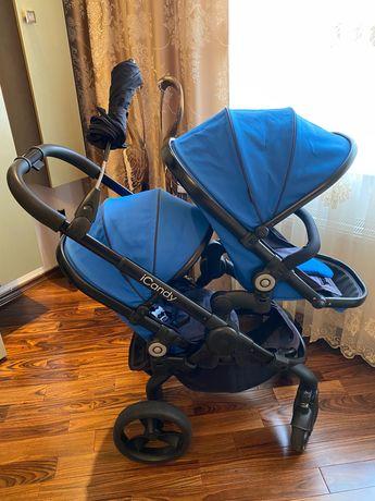Icandy 3 в 1 дитяча коляска для двійні