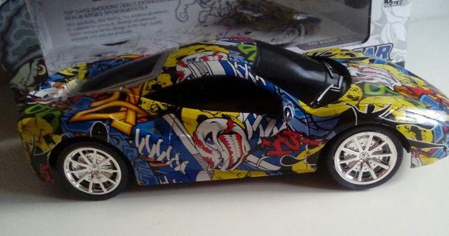 Autko graffiti,wyścigowe na zdalne sterowanie-NOWY-dla dziecka,prezent