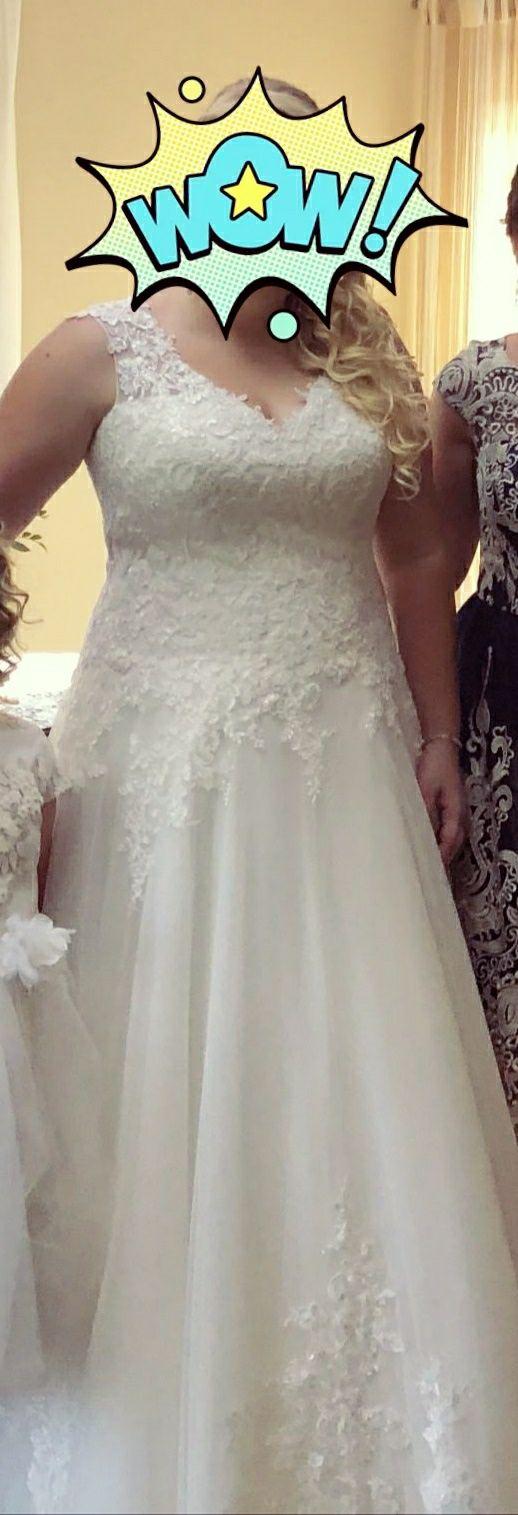 Suknia ślubna estrella kolor ivory rozmiar 46 na 175cm wzrostu + obcas