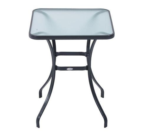 Stół ogrodowy szkło hartowane metal