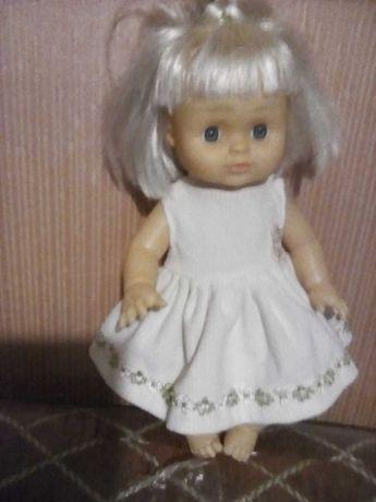 Кукла винтажная говорящая с одеждой