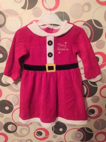 Новогоднее платье на девочку от 9 до 12 месяцев