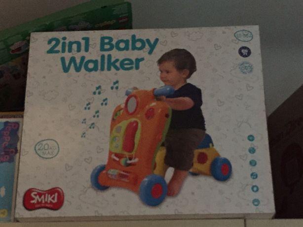 Smiki pchacz interaktywny 2 in 1 baby walker