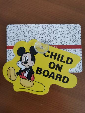 Placa Mickey indicação Bebe a Bordo