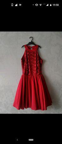 Bordowa rozkloszowana elegancka sukienka wesele studniówka połowinki
