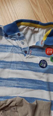 Bluzki na krótki rękaw dla chłopca 110 cm