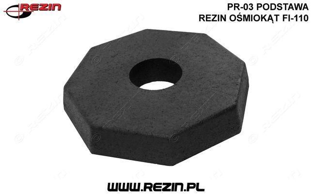 PR-03 podstawa REZIN ośmiokąt fi-110 / gumowa podstawa pod znak POLSKA