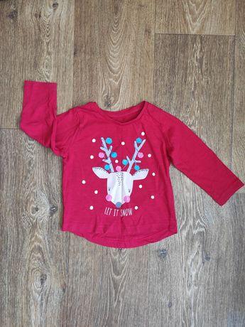 Реглан свитер кофточка для девочки новогодний джемпер футболка