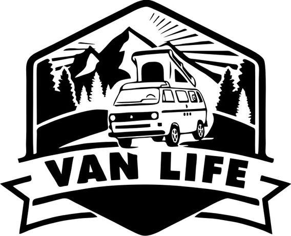 NN25 Naklejka VAN Life kamper, kemping, vestfalia VW T3 wohnwagen