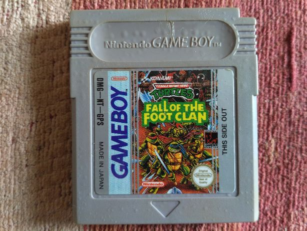 "Jogo Gameboy tartarugas ninja ""fall of the foot clan"" - TMNT"