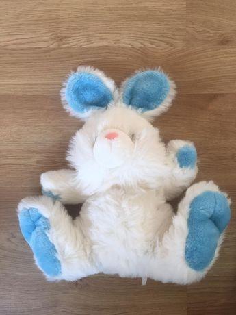 Peluche Azul e Branco Coelho 40cm