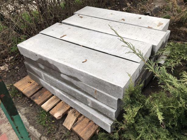 Obrzeża chodnikowe betonowe, krawężniki, oporniki 1000x250x100