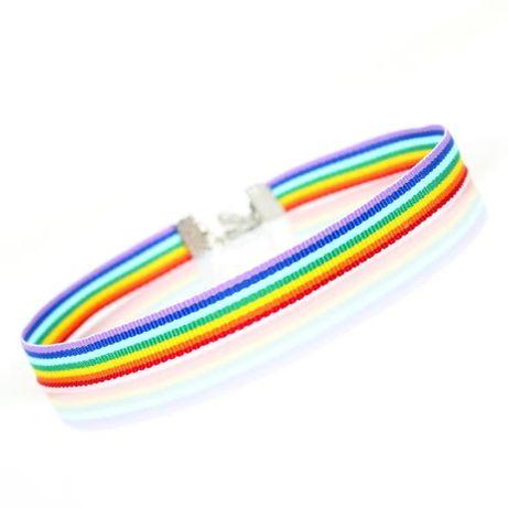 Naszyjnik CHOKER LGBT Pride Tęcza