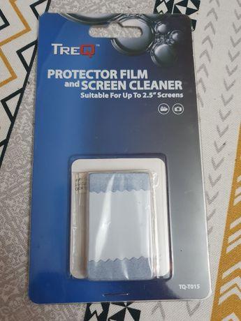 Folia ochronna na wyswietlacz 2,5' aparat/GPS z zestawem czyszczącym