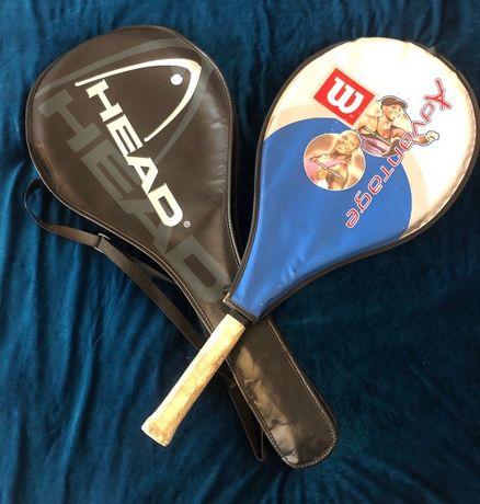 Ракетки теннисные HEAD и Wilson