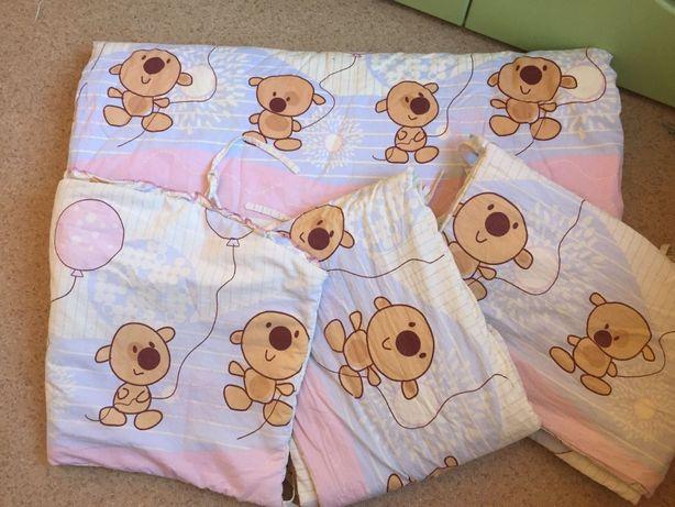 Бортики, одеяло, карман и балдахин