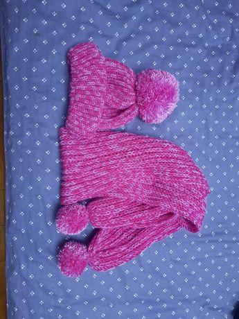 Шерстяная шапка +шарф