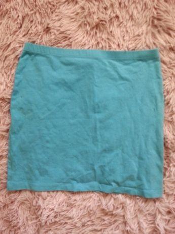 Jasna niebieska turkusowa spódnica tuba H&M