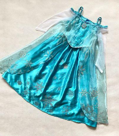 Sukienka strój bal karnawałowy Elza Kraina Lodu 6-7 lat 116-122