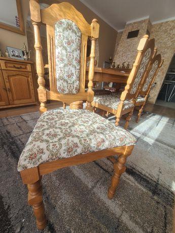 Sprzedam 8 krzeseł dębowych