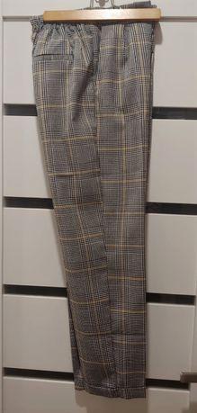 Spodnie w kratkę cygaretki/kantka Sinsay XS