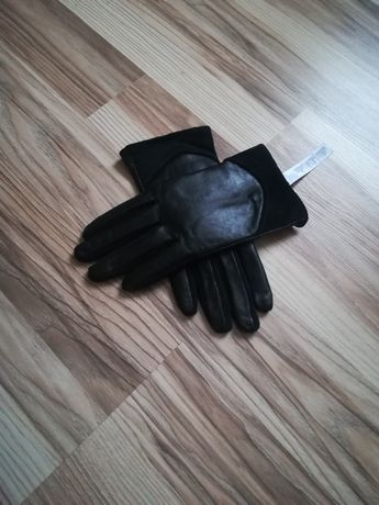Damskie rękawiczki skórzane